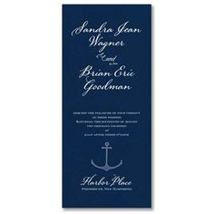 Engraved nautical wedding invitation by William Arthur available at Salutations