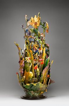 whitney peckman's gourd sculptures.  Absolutely gorgeous!  ...MKL.