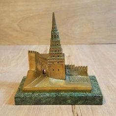 Vintage Brass MINIATURE BUILDING ~ BOROVITSKAYA TOWER KREMLIN Russia USSR #Russia #kremlin #Miniature #Building #Borovitskaya #Brass