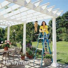 Small backyard pergola ideas free pergola plans free for Deck gets too hot