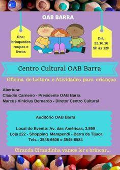 Jornalista Denise Machado: No mês das crianças : Oficina de Leitura e Ativida...