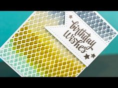 Video: Distress Ink Watercolor + Embossing Folders... and GIVEAWAY - Jennifer McGuire Ink