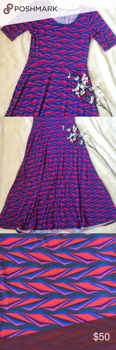 Lularoe Ana dress Super soft Ana dress by lularoe. Super soft and slinky. Perfect for dressing up or just wear as a comfortable casual dress. Some slight peeling under the arms, shown in last photo. Otherwise in fantastic condition! LuLaRoe Dresses Maxi