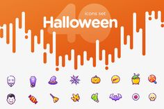 40 Halloween icons by Kavoon on @creativemarket