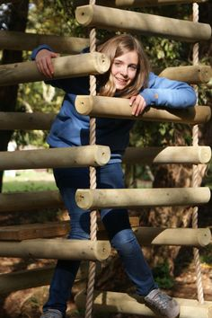 Because we create stunning Rope Ladders at Treehouse Life