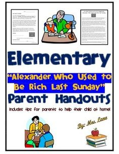 "This item includes tips for parents to help their child at home with learning concepts associated with the book ""Alexander, Who Used to Be Rich Last Sunday."""