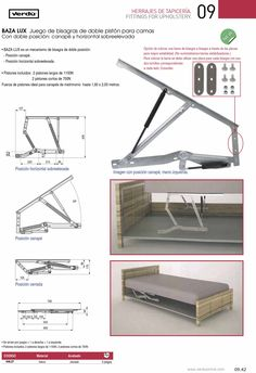 Sofa Drawing, Bed Lifts, Furniture Hinges, Hanging Beds, Bedroom Closet Design, Ottoman Bed, Wood Joinery, Sofa Legs, Woodworking Projects
