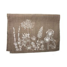 Hedgerow Tea Towel | Cornish Flora | Hand printed in Cornwall