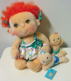 """my """"Hugga Bunch"""" doll.  I would actually cover her eyes at night.....creepy"""