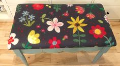 Wet felted fabric made by Leslie Cervenka/Bluebird Woolen Arts. Bench made and upholstered by Bluebird Woolen Arts.