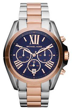 Michael Kors 'Bradshaw' Chronograph Bracelet Watch, 43mm available at #Nordstrom