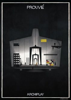 Image 1 of 29 from gallery of Federico Babina's ARCHIPLAY Illustrations Imagine Set Designs by Master Architects. Photograph by Federico Babina Concept Architecture, Modern Architecture, Jean Prouve, Set Design Theatre, Famous Architects, Building Design, Art History, Layout, Graphic Design