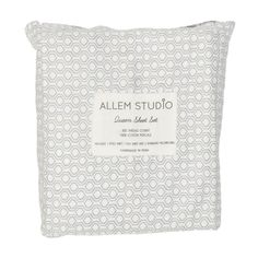 Honeycomb Grey Bed Sheets design by Allem Studio