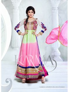 Shilpa shetty Pink , Parrot And Blue Shaded Net Anaarkali With Full Sleeve Check our New Bollywood collection, http://20offers.com/shilpa_shetty_pink__parrot_and_blue_shaded_net_anaarkali_with_full_sleeve?search=shilpa#.Uz6jtKiSzxA , Available for shipping worldwide,  Buy Bollywood Sarees at lowest price in USA, CANADA, AUSTRALIA, NEW ZEALAND, SINGAPORE, MALYASIA ,UK, NETHERLANDS, FRANCE, JERMANY - Indian Clothing Online!