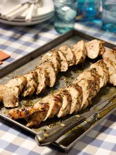 Herb-Rubbed Grilled Pork Tenderloin