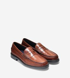 Mens Pinch Campus Hand-Stained Penny Loafer