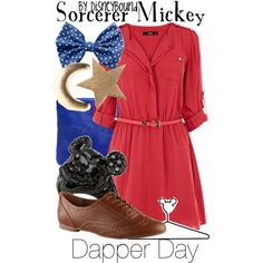 """""""Sorcerer Mickey"""" by lalakay on Polyvore--DISNEYBOUND"""