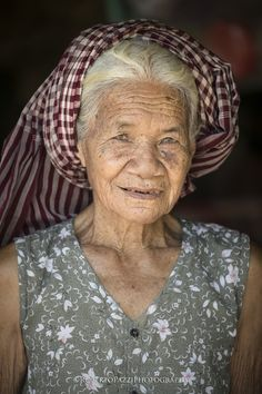 """Portrait of an elderly woman (Cambodia). This picture is included with many others in the book """"Cambodia: Land of Gods"""" (http://robertopazziphotography.weebly.com/books.html). Visit http://robertopazziphotography.weebly.com subcribe to the newsletter and download the ebook """"Street of the World"""" as welcome gift! Web Site: http://robertopazziphotography.weebly.com Facebook: https://www.facebook.com/robertopazziphotography Instagram: Roberto_Pazzi_Photography"""