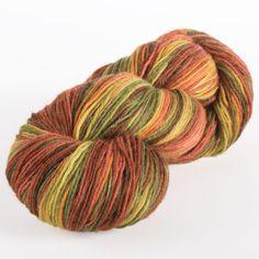 Hayride- Stroll Hand Painted Sock Yarn - 75% Superwash Merino Wool, 25% Nylon Fingering Knitting Yarn (mittens)