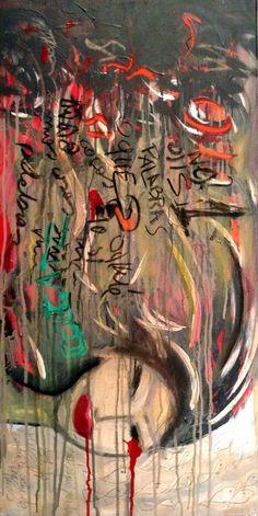 Cuadro CRISIS Técnica mixta sobre lienzo. 40cm x 80cm