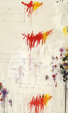 Cy Twombly est il flower power ? #Abstract #art #colorful #painting