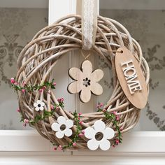 All Details You Need to Know About Home Decoration - Modern Easter Wreaths, Fall Wreaths, Door Wreaths, Wood Crafts, Diy And Crafts, Summer Crafts, Theme Noel, Summer Wreath, Diy Wreath