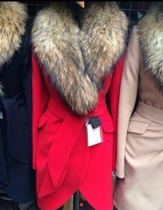 Пальто кашемир Helen с натуральным мехом