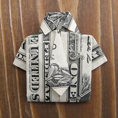 Fold a dollar shirt for Dad! Don't have a dollar? That's okay! Any paper will do - just cut it to the size of a dollar bill :-).