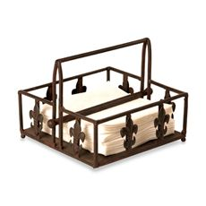 Fleur De Lis Metal Napkin Holder is perfect for buffet style meals and parties. The metal bar on top holds down napkins for serving outside. Paper Towel Holder, Birthday Wishlist, Christmas Birthday, Kitchen Organization, Getting Organized, Wrought Iron, Kitchen Remodel, Napkins, Bath
