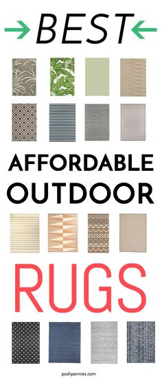 these incredibly well priced outdoor rugs will instantly make your patio look more chic, and won't cost you an arm and a leg! #outdoorrug #patiorug #patiodecor #outdoorspace #summerreno #patioreno #OUTDOORCARPETS Outdoor Carpet, Outdoor Rugs, Improve Yourself, Make It Yourself, Patio Rugs, Tight Budget, Rug Runner, Home Goods, Budgeting