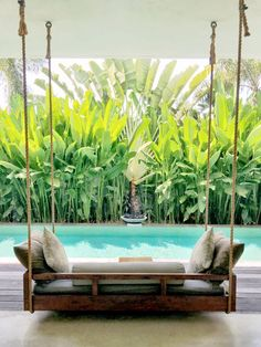 ideas backyard privacy pool fence for 2019 Balinese Decor, Balinese Garden, Bali Garden, Home And Garden, Garden Plants, House Plants, Balinese Interior, Flora Garden, Backyard Privacy