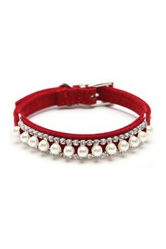 Adjustable Pearl and Crystal Pet Collar in Four Colors | TRAITS