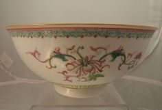 Chinese famille rose porcelain bowl Qianlong mark in underglaze blue