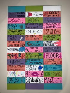 Sleepover Party Games, Diy Party Games, Party Rules, Adult Party Games, Diy Games, Jenga Drinking Game, Drinking Board Games, Drinking Games For Parties, Drunk Jenga