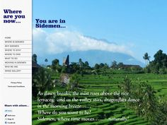 An accommodation portal and directory for hotels, resorts, villas, pondok, guest houses and general tourist information for the Sidemen Valley in East Bali.