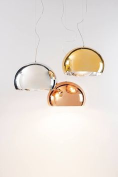 Kartell FL/Y Metallic Suspension pendant light by Ferruccio Laviani