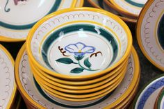 """Stangl Pottery """"Fruit and Flowers"""" 57 PC Set Plates Bowls of All Sizes   eBay"""