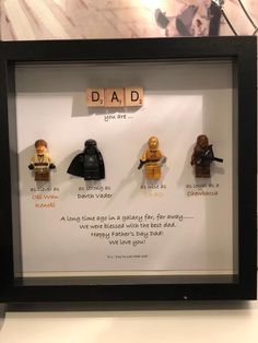 Star Wars Personalised Frame - Star Wars unique gift - Father's Day- Special Gift- star wars gift A unique personal STAR WARS look alike gift for the fathers in your life or just a STAR WARS fan. Happy Fathers Day Dad, Fathers Day Crafts, Gifts For Father, Special Gifts For Him, Dad Gifts, Diy Father's Day Gifts, Father's Day Diy, Father's Day Unique Gifts, Regalos Star Wars