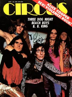 """glamidols: """" Alice Cooper on the cover of Circus magazine – 1971 """""""