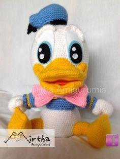 Donald Baby  Mirtha Amigurumis https://www.facebook.com/MirthaAmigurumis #crochet #amigurumi #yarn Guayaquil - Ecuador
