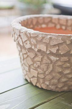 I f you saw my how to create a succulent garden post last week, then you no doubt spotted the. Mosaic Planters, Mosaic Vase, Mosaic Flower Pots, Mosaic Diy, Mosaic Garden, Mosaic Crafts, Mosaic Projects, Mosaic Tiles, Mosaics