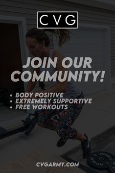 Need motivation? Looking for direction on a strength training routine? We have free workouts and loads of support! Ladies, this is your chance to experience the CVG community! Crossfit Workouts At Home, Workout Gear, You Fitness, Fitness Goals, Need Motivation, High Intensity Workout, Ways To Burn Fat, Badass Women, Medical Advice