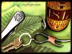 SHAMROCK 4 Leaf Clover  Keychain Bottle Opener -  Personalized Option Available - Design by Naz - St-Patrick's - Ireland Irish Gift for Man