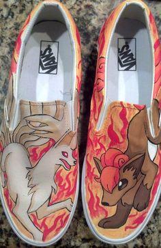 Custom SlipOn Pokemon Shoes by customshoesbysarah on Etsy,