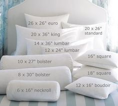 Probably a wierd thing to pin. But I'm on the hunt for a certain size pillow insert and I remembered this