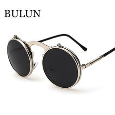 Eyewear Type: Sunglasses Item Type: Eyewear Department Name: Adult Brand Name: BULUN Gender: Men Style: Round Lenses Optical Attribute: Mirror Frame Material: Stainless Steel Frame Color: Black Frame