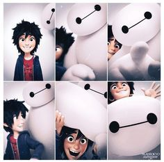 Hiro and Baymax. Hiro~my gummy bear for life Baymax~Hiro's cute loving health companion Disney Pixar, Walt Disney, Disney And Dreamworks, Disney Animation, Disney Magic, Disney Art, Disney Characters, Punk Disney, Big Hero Baymax