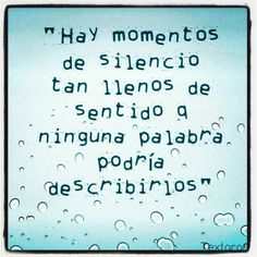 Así describe el #silencio @Joanne Garcia