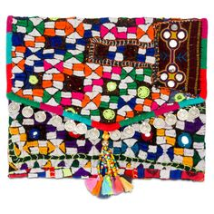 Large Banjara Clutch II Lipstick Holder, Global Style, Tropical, Kids Rugs, Boho, My Style, Pattern, Gifts, Accessories