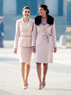 Queen Letizia of Spain and Argentine First Lady Juliana Awada are the chicest duo ever—see their matching outfits.